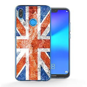 Huawei P20 Lite Retro Union Jack Flag TPU Gel Case