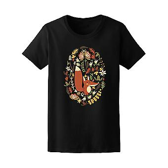 Fox And Autumn Plants Tee Women's -Image by Shutterstock