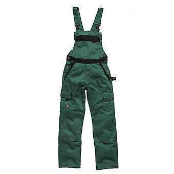 Dickies Mens Workwear Industry 300 Twotone Work Bib & Brace Green