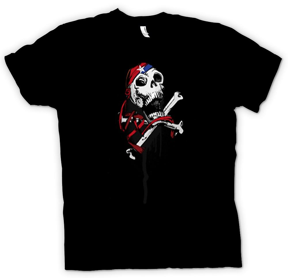 Mens T-shirt-Skull mit Bandana & Cross Bones