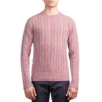 Prada Herren Wolle Kaschmir gestrickt Crewneck Pullover Rosa