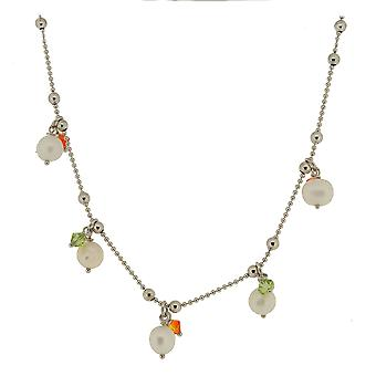 Orphelia Silver 925  Necklace 45Cm 925 Silver Colored Zirconium/Pearls  ZK-2551
