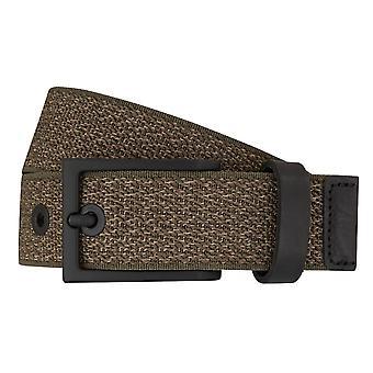 LLOYD Men's belts mesh belts men's belts leather olive/green 7195 fed
