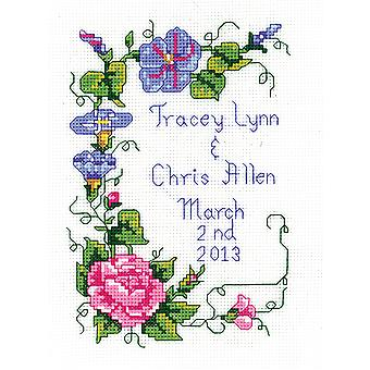 Wedding Floral Mini Counted Cross Stitch Kit-5