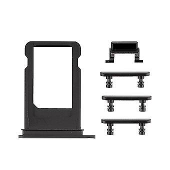 Jet svart sida knapparna in med SIM-fack för iPhone 7 | iParts4u