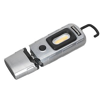 Sealey Led3601Ba Rechargeable 360� Inspection Lamp 2W Cob + 1W Led