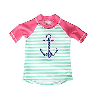 Banz Girls UV Short Sleeved Rash Top - Anchor