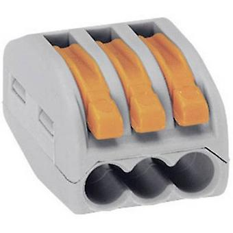 WAGO 222-413 Connector clip flexible: 0.08-4 mm² rigid: 0.08-2.5 mm² Number of pins: 3 1 pc(s) Grey, Orange