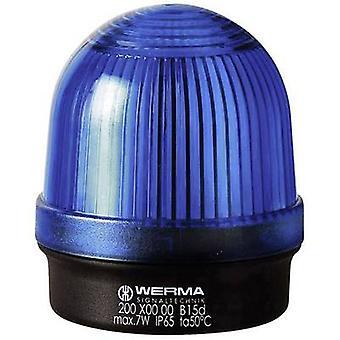 Light Werma Signaltechnik 200.500.00 Blue Non-stop light signal 12 V AC, 12 Vdc, 24 V AC, 24 Vdc, 48 V AC, 48 Vdc, 110 V AC, 230 V AC