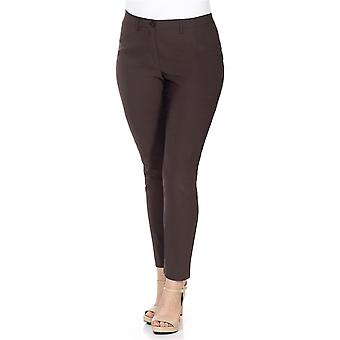 sheego Bengalin stretch plus size short size Brown
