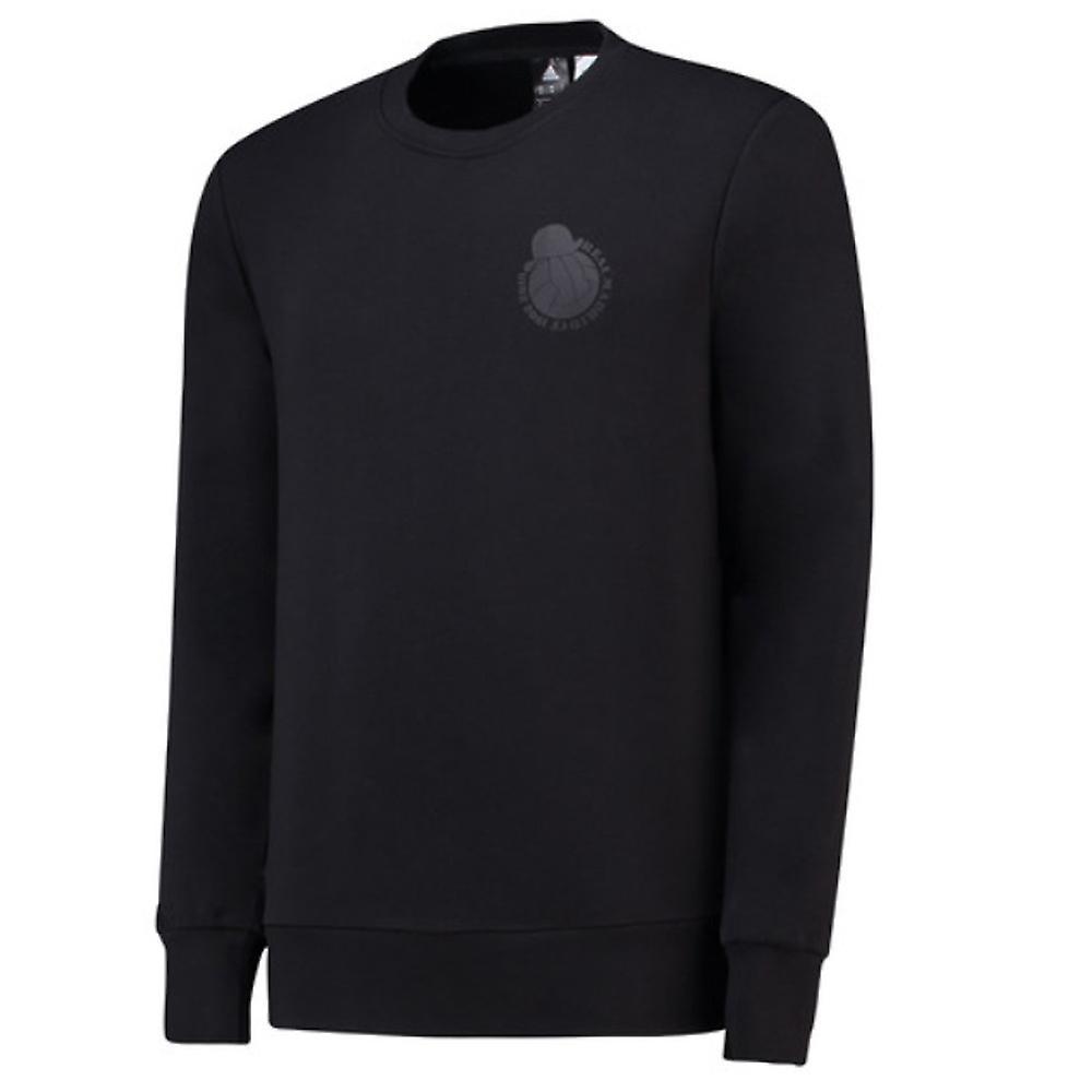 2018-2019 Real Madrid Adidas Graphic Sweatshirt (Black)