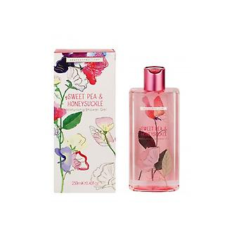 Heathcote & Ivory Sweet Pea Honeysuckle Moisturising Shower Gel 250ml
