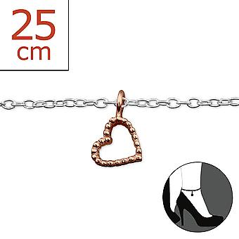 Heart - 925 Sterling Silver Anklets - W27653x