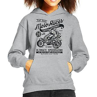Vintage Moto Racer Capital Speedway Kid's Hooded Sweatshirt