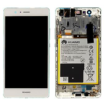 Huawei display LCD unit + frame for P9 Lite Service Pack 02350SLF white