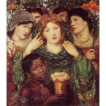 La mariée, Dante Gabriel Rossetti, 80x76cm