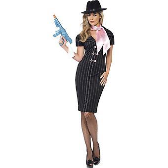 Gangster's Moll Costume, UK Dress 8-10