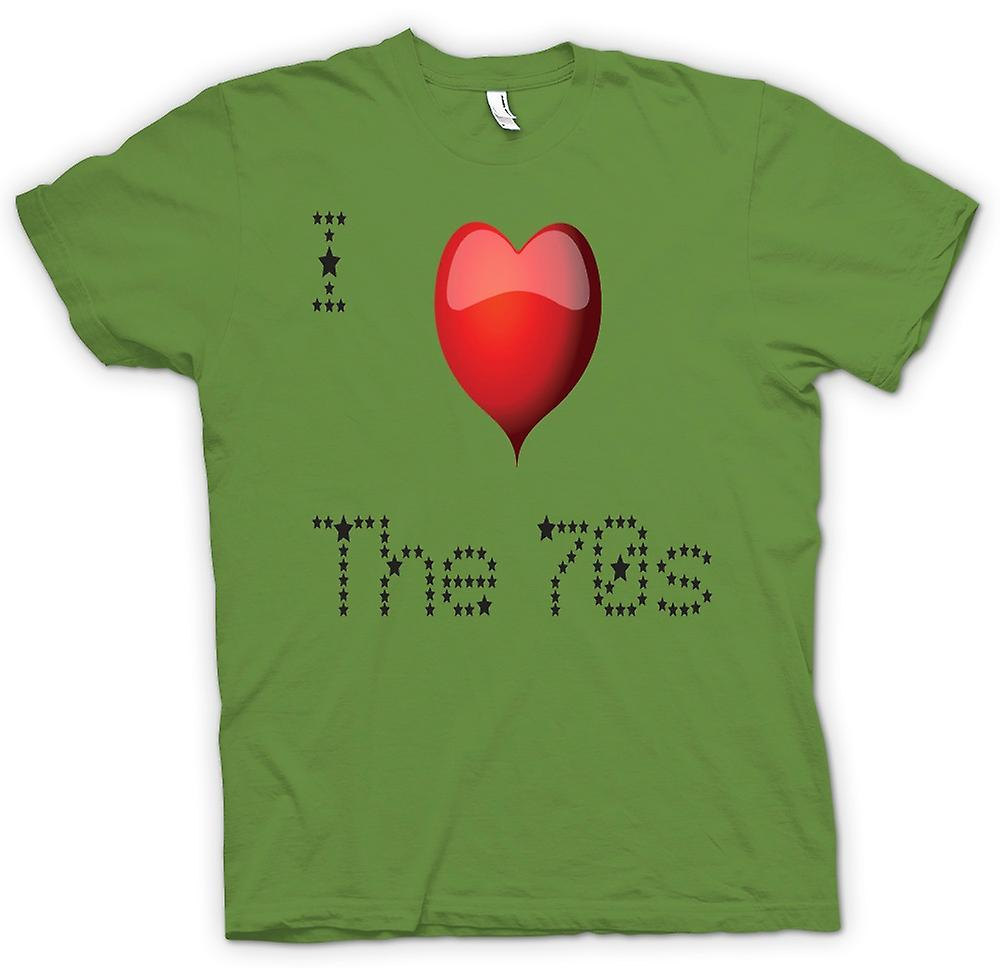 Cool t-shirt - I Love The 70s - retrò