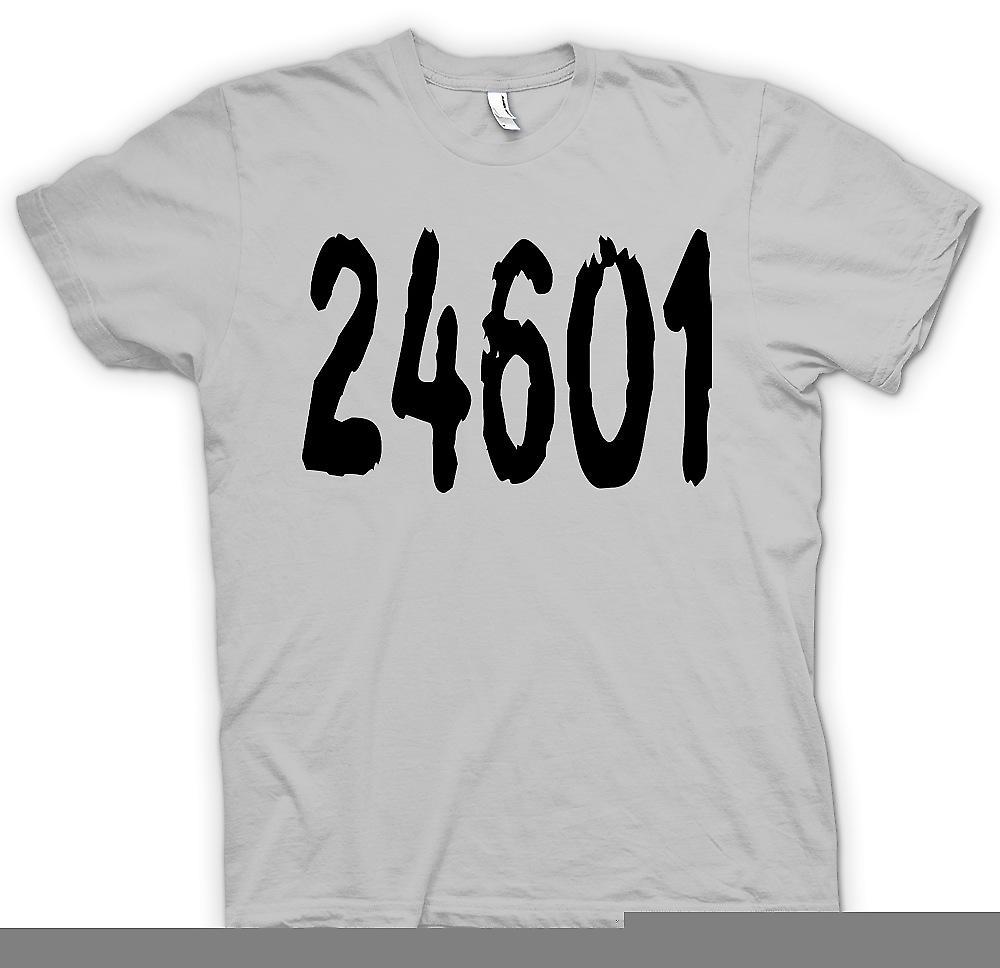 Mens T-shirt - 24601 - Jeann Valjean Prison Number