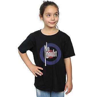 Ingen tvil jenter Quadro Distressed t-skjorte