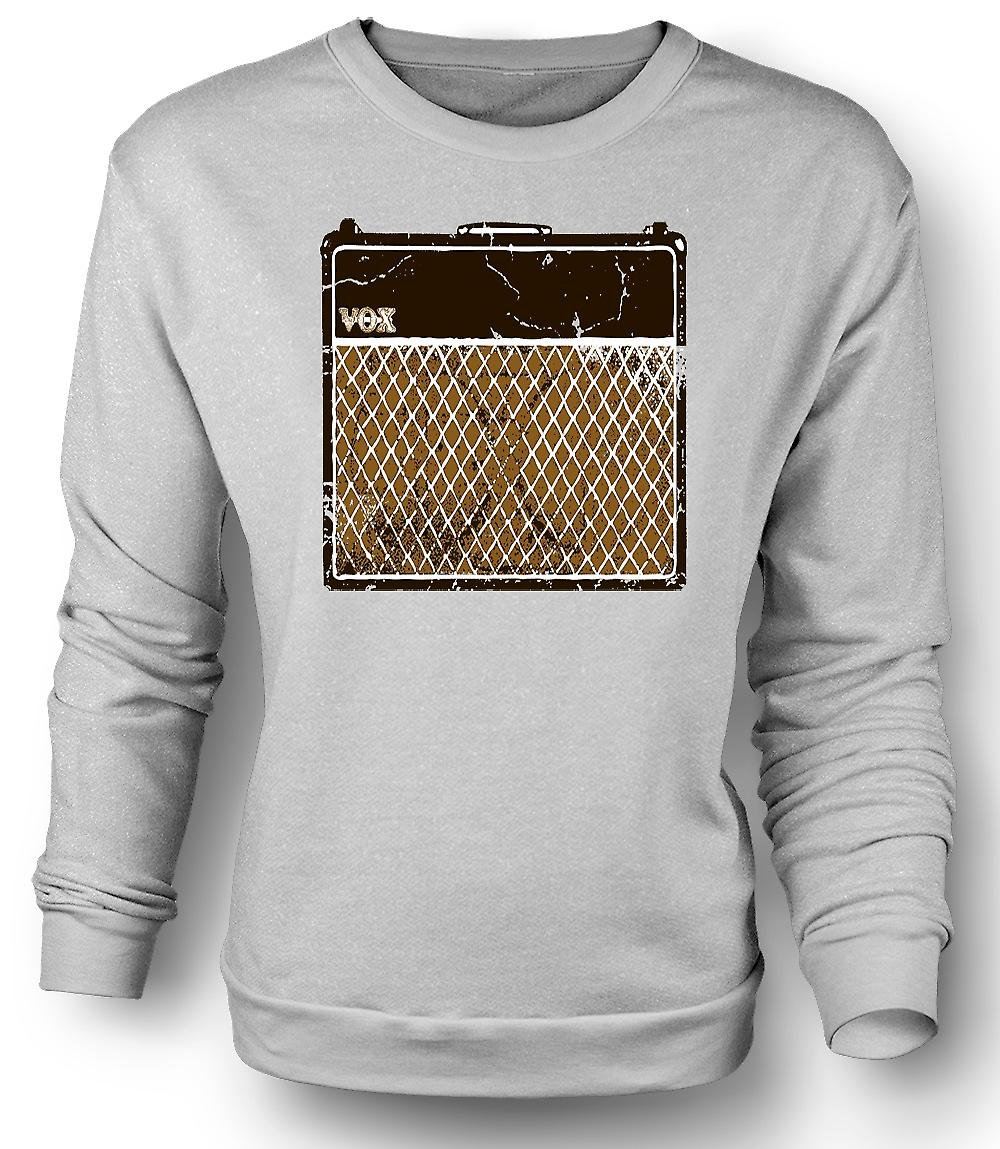 Mens Sweatshirt Vox Guitar Amps AC30 - Blues Rock Music
