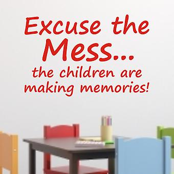 Children's wall sticker - Mess