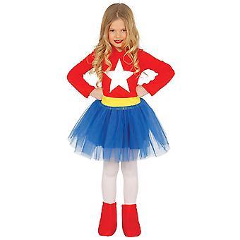 Mädchen Supergirl Superheld Kostüm