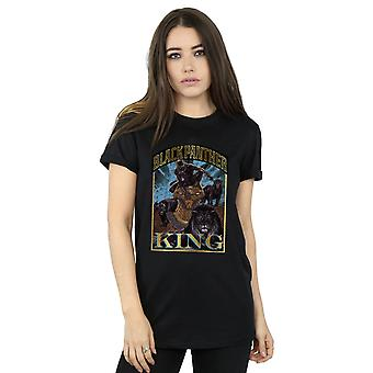 Marvel Women's Black Panther Homage Boyfriend Fit T-Shirt