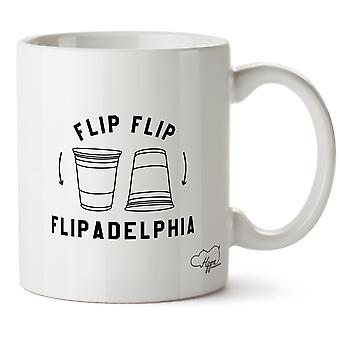 Hippowarehouse Flip Flip Flipadelphia Printed Mug Cup Ceramic 10oz
