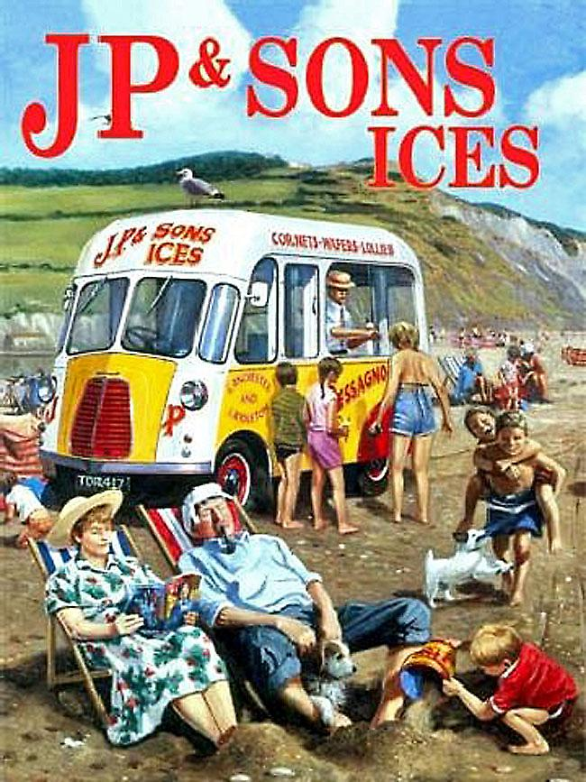 JP & Son Ice Cream Van metal sign  (og 2015)
