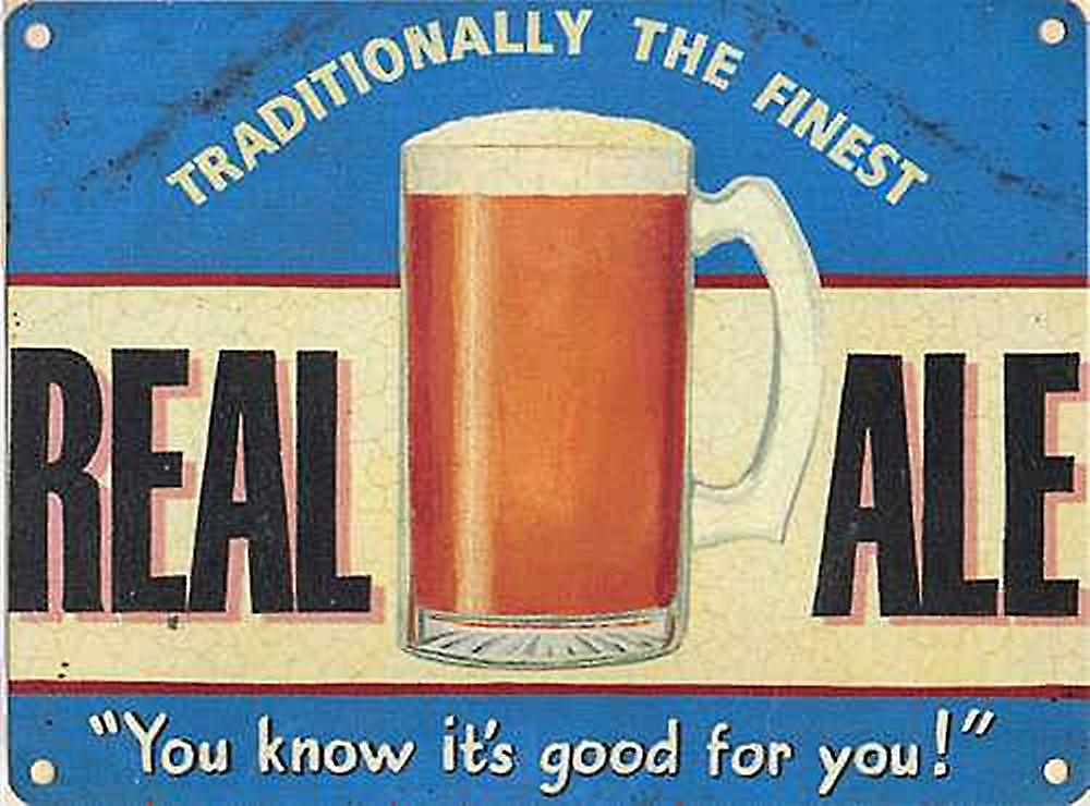 Real Ale metal sign  (og 4030)