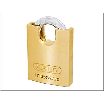 65/50CS 50MM BRASS PADLOCK CLOSE SHACKLE CARDED