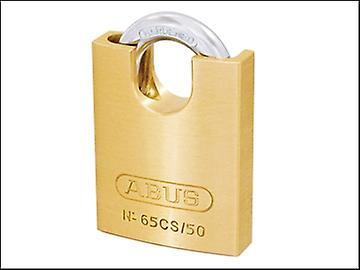 ABUS 65/50CS 50mm Brass Padlock Closed Shackle Carded