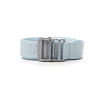 Off-white Light Blue Fabric Belt