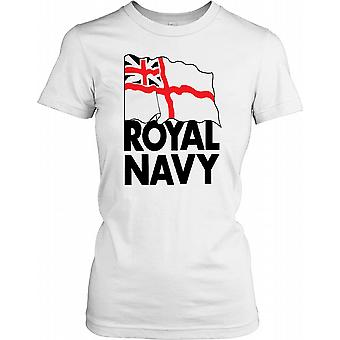 Royal Navy Flag - British Naval Power Ladies T Shirt