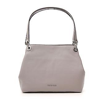 Michael Kors Raven Grey Leather Shoulder Bag