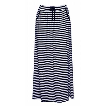 Waooh - long summer skirt sailor stripes