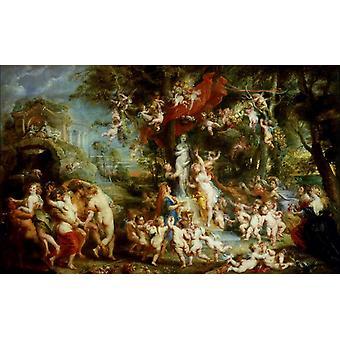 Fest der Venus, Rubens, 60x37cm