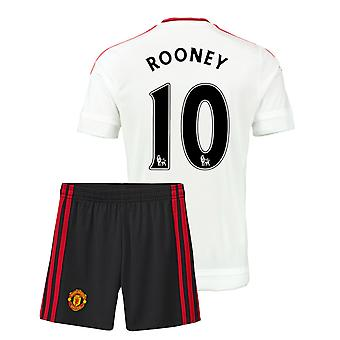 2015-16 Man Utd Away Mini Kit (Rooney 10)