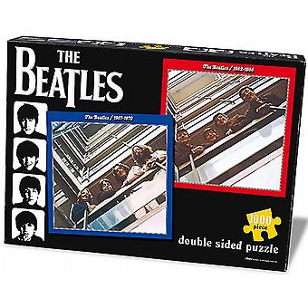 Beatles rouge / bleu 1000 piece double face jigsaw puzzle 590 x 590 mm (pl)