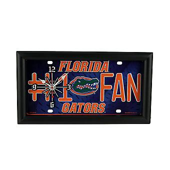 NCAA Florida Gators Number 1 Fan License Plate Mantel or Wall Clock