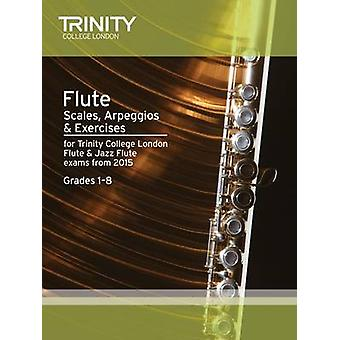 Flute & Jazz Flute Scales & Arpeggios from 2015 - Grades 1 - 8 - 97808