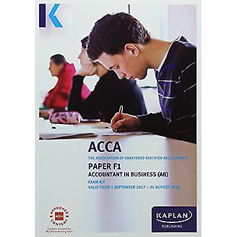 FAB Accountant in Business - Exam Kit by Kaplan Publishing - 97817874