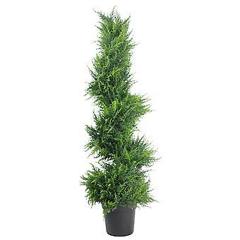 120cm Premium Artificial Spiral Cypress with pot