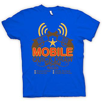 Womens T-shirt - Mobile Quick Draw Rules - Funny