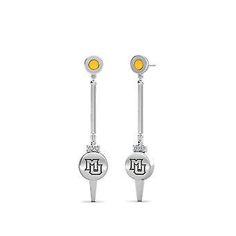 Marquette University Marquette Logo inciso diamante smalto dangolo orecchini in giallo