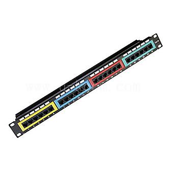 CAT6 UTP Patch Panel 24 Port PCB Type 110 IDC Type