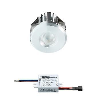 Cree LED upotettu Spotlight Benidorm | Lämmin valkoinen | 3 wattia | Himmennettävä