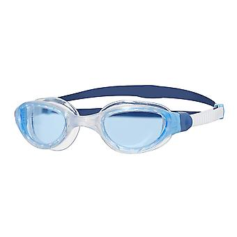 Zoggs Swimming Goggles 2.0 with  Anti-Fog Lenses  in White/Blue/Tint - One Size