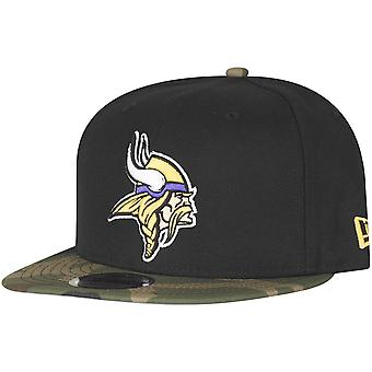 Musta camo uuden aikakauden 9Fifty Snapback lippis - Minnesota Vikings